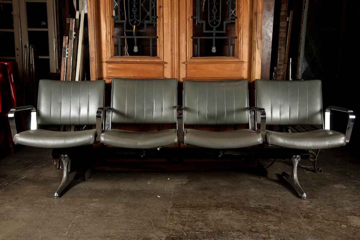 Retro Style Chairs Set Of Four Retro Style Airport Waiting Area Chairs  Olde Good Things