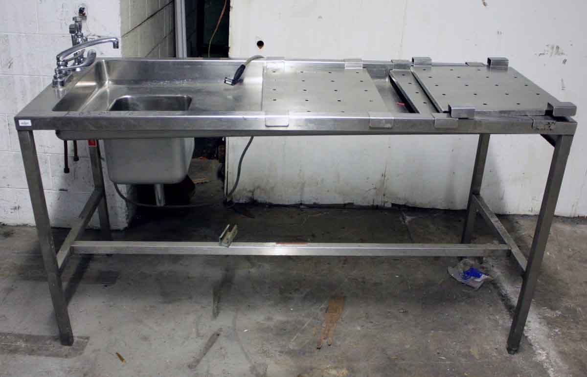 Reclaimed Commercial Stainless Steel Sink Amp Counter Olde