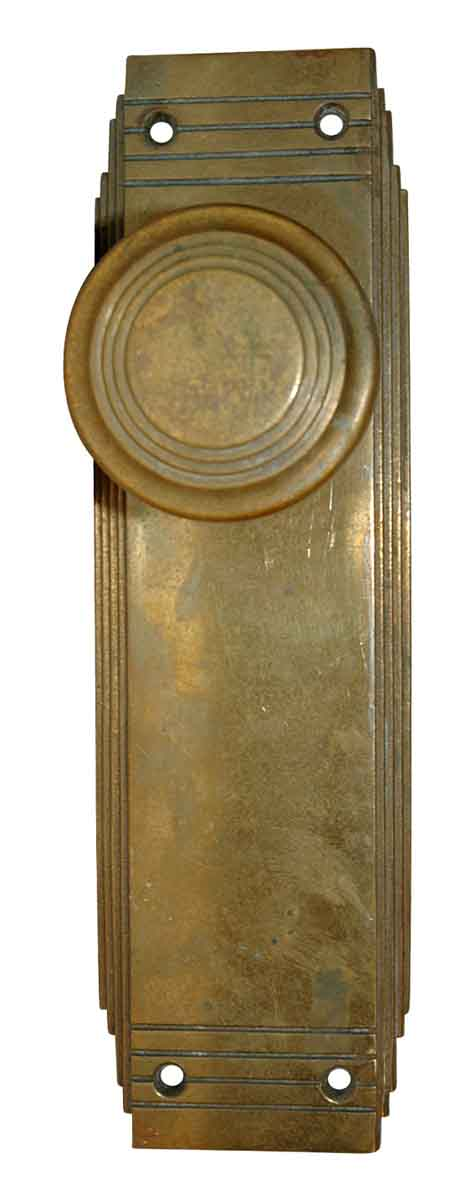 Art Deco Solid Cast Bronze Complete Entry Knob Set