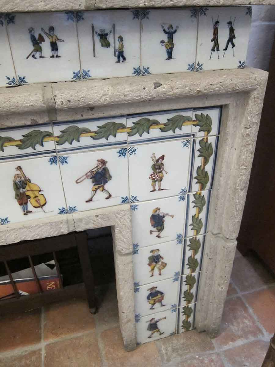 Dutch Tile Fireplace Mantel Made By Royal Tichelaar Of