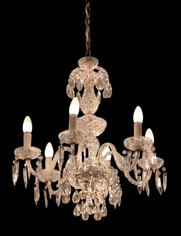 Six Light Crystal Chandelier