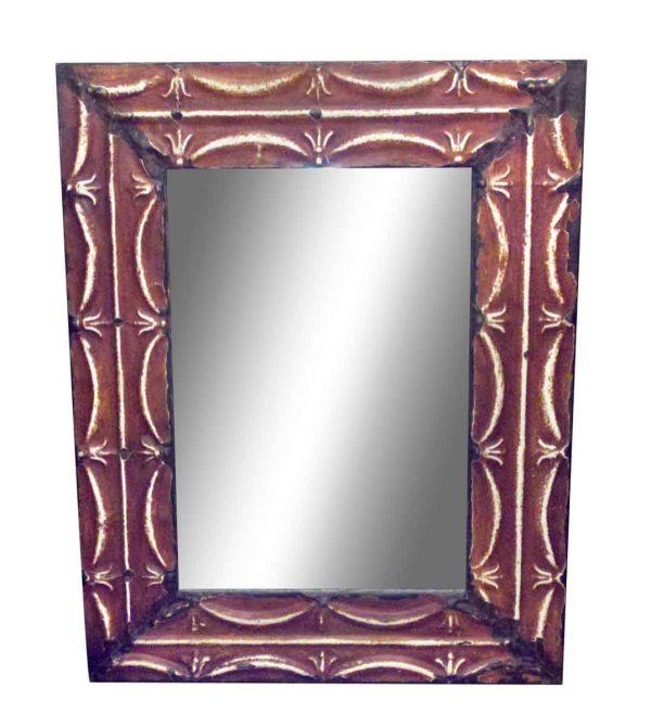 Ribbons Antique Tin Mirror