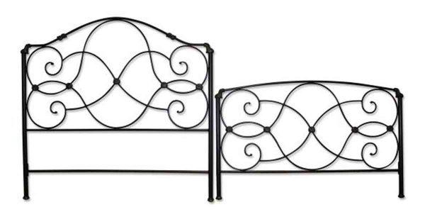 Black Metal Bed Frame Set
