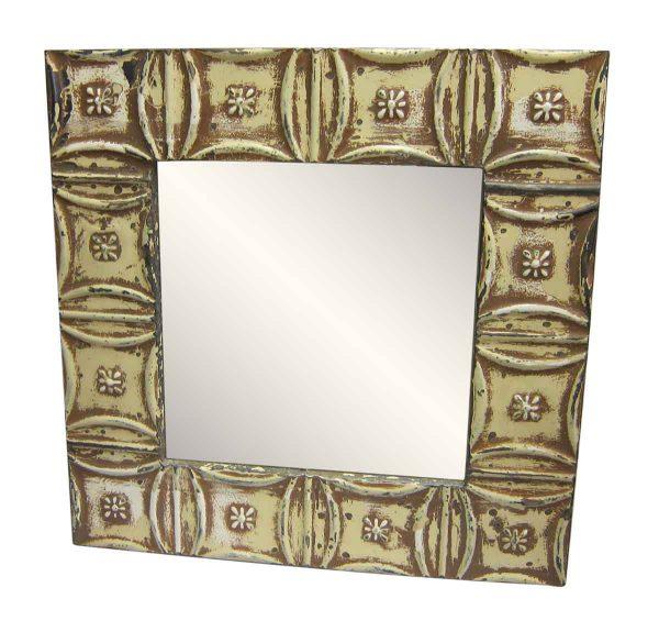 Snowflake Pattern Tin Mirror
