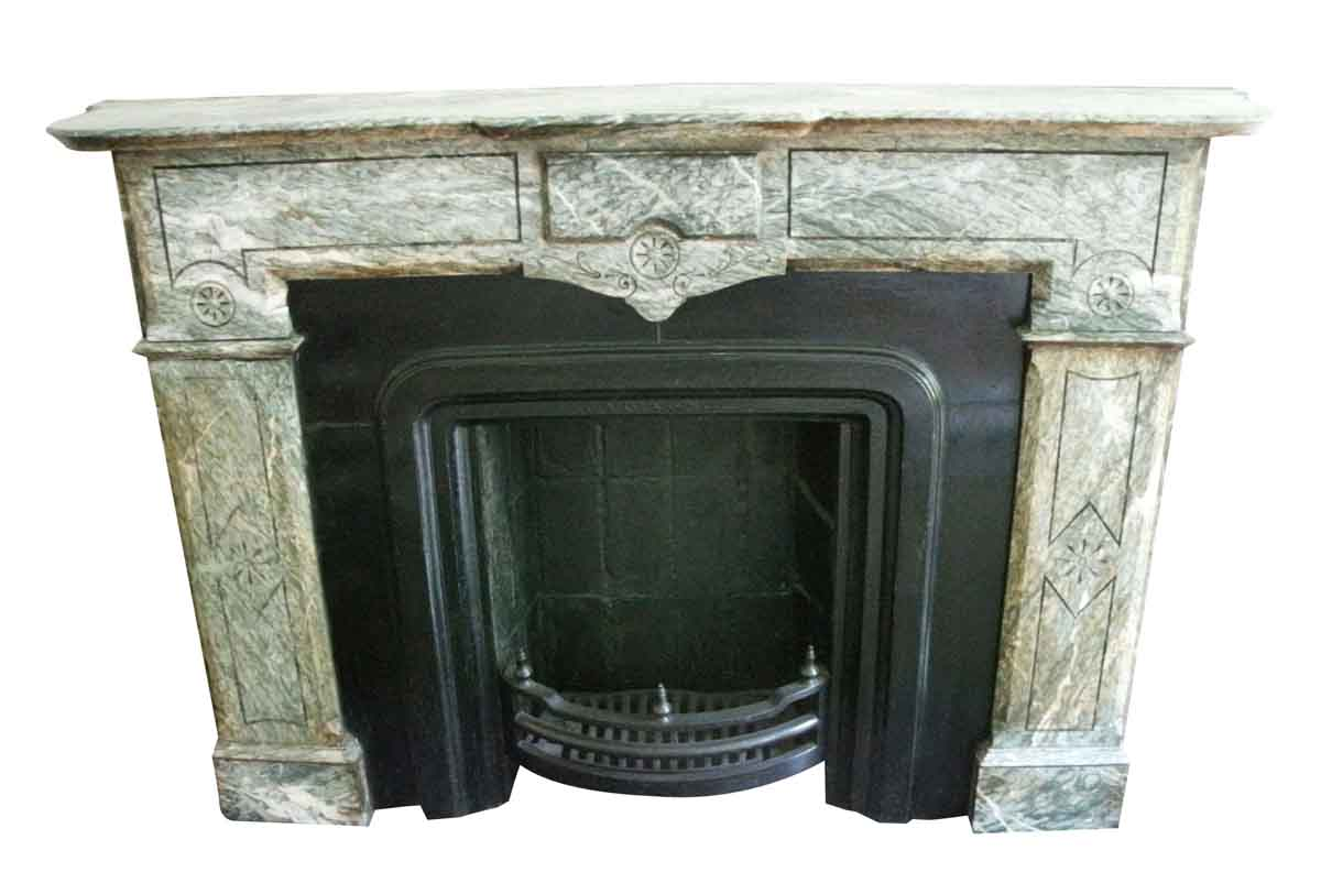 Green & White Eastlake Mantel