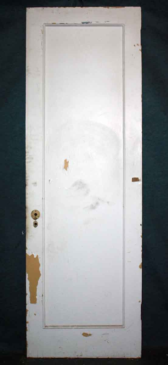 Salvaged Single Panel White Door