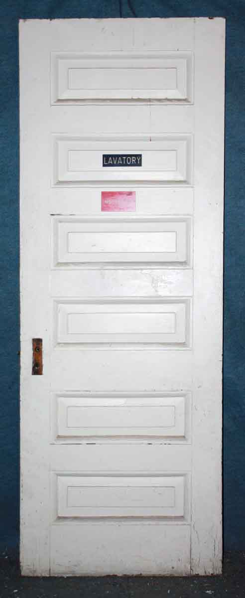 Salvaged 6 Panel White Door