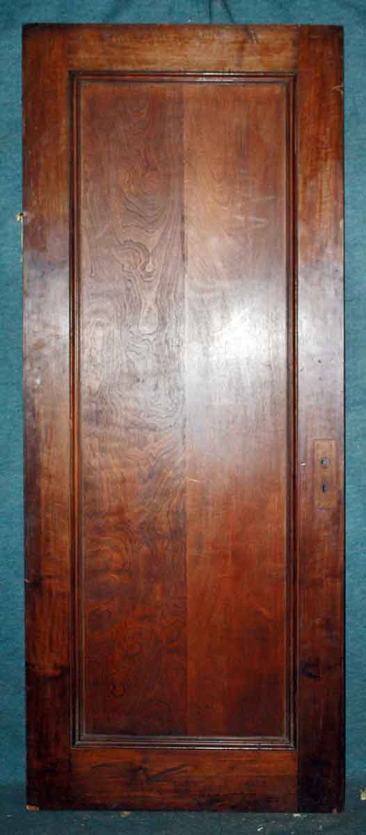 Single Panel Birch Door With Mahogany Stain Olde Good Things
