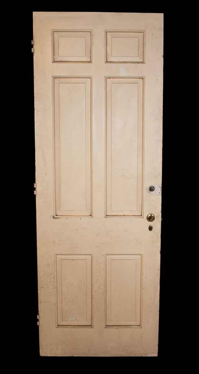Six Panel Door Painted White