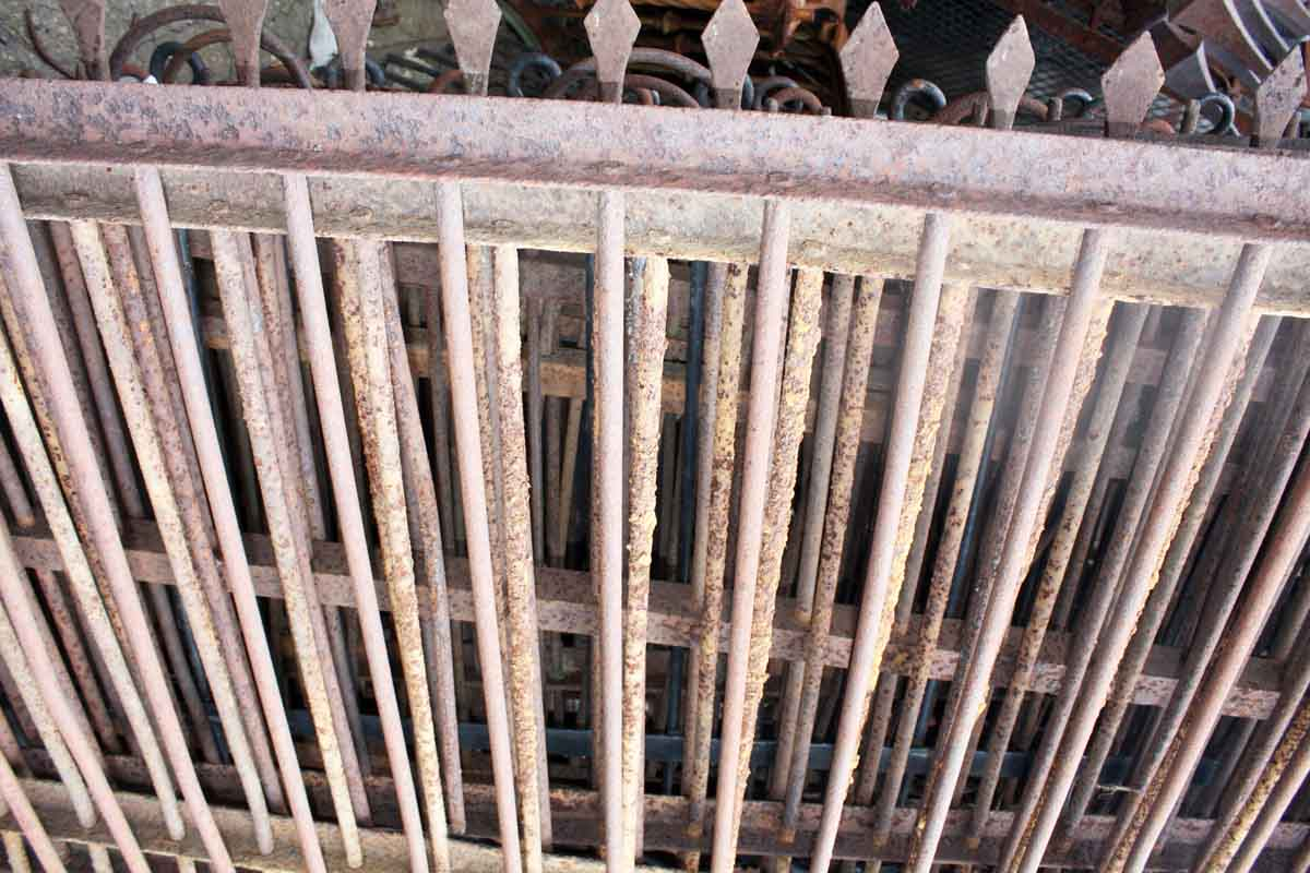 52 Foot Lot Of Wrought Iron Fence With Hand Hammered
