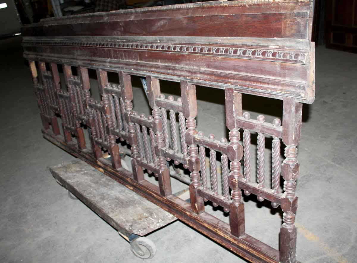 Wonderful Antique Stair Balcony Railing With Spindle Fretwork