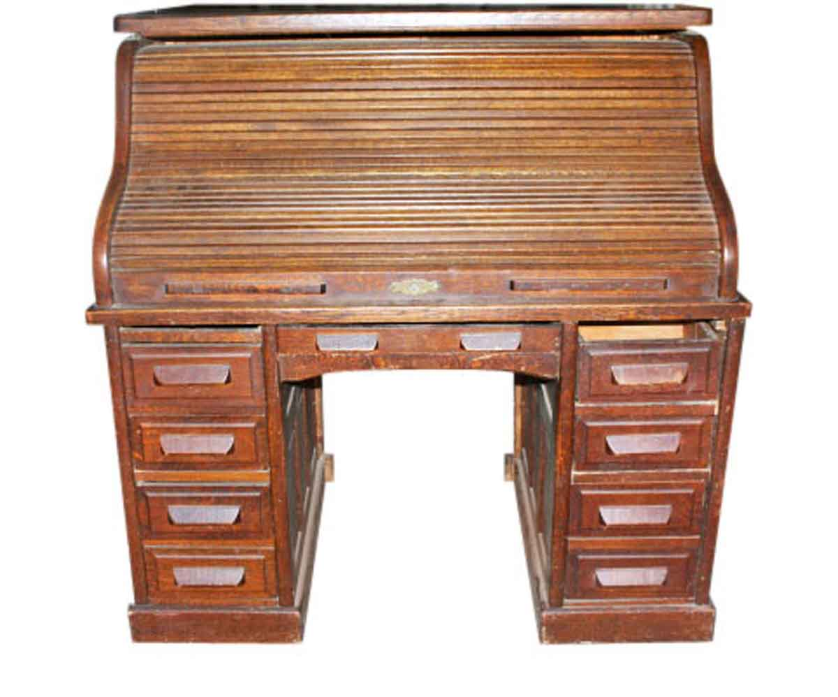 Antique Small Roll Top Desk