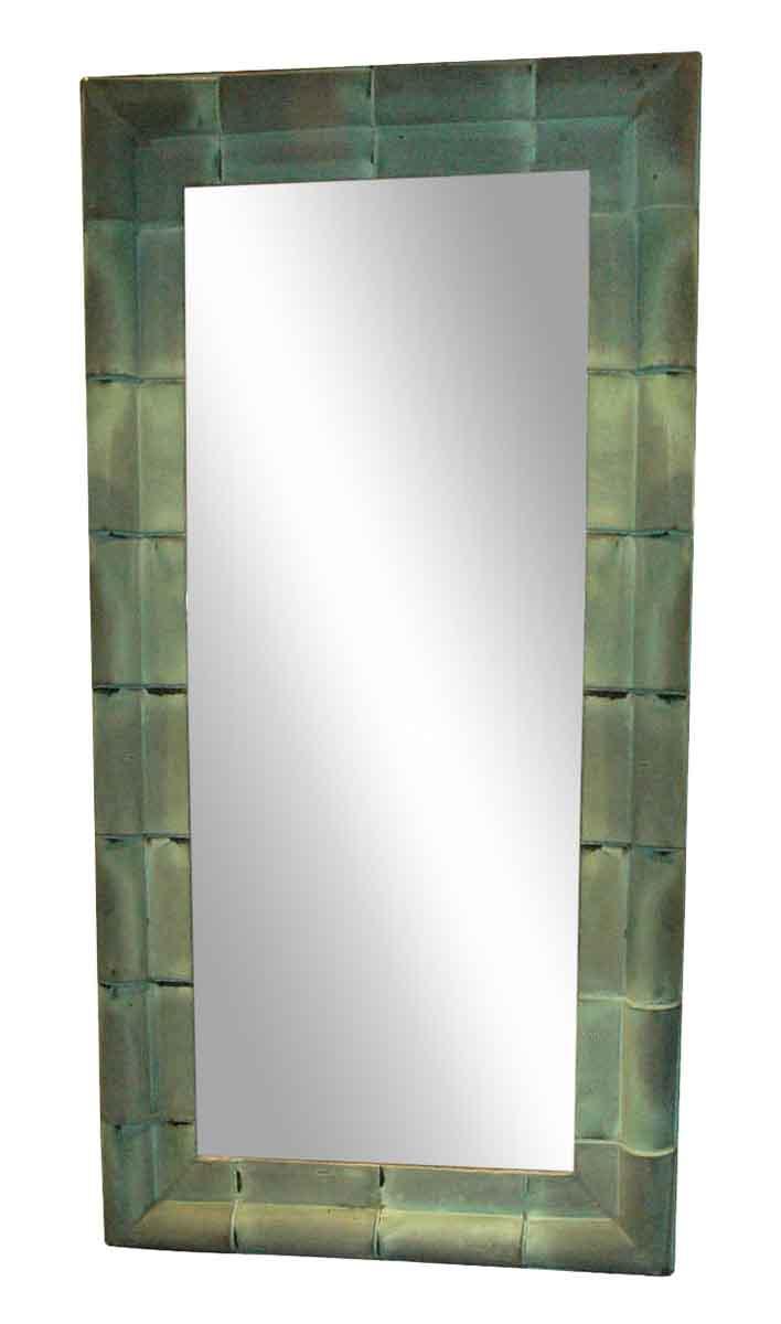 Large Antique Copper Shingle Mirror