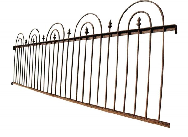 Long Short Garden Fence Run with Sloping Height