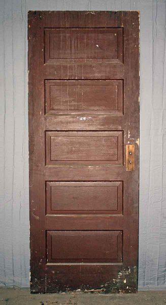 Door with Five Horizontal Panels