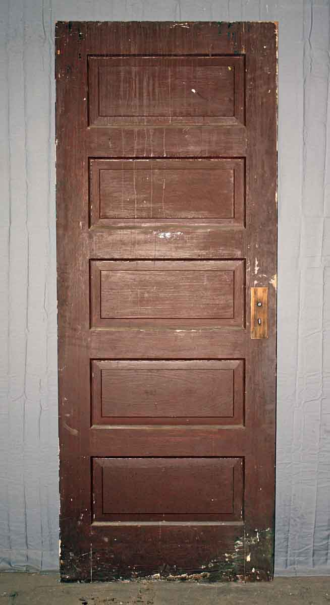 Door with Five Horizontal Panels