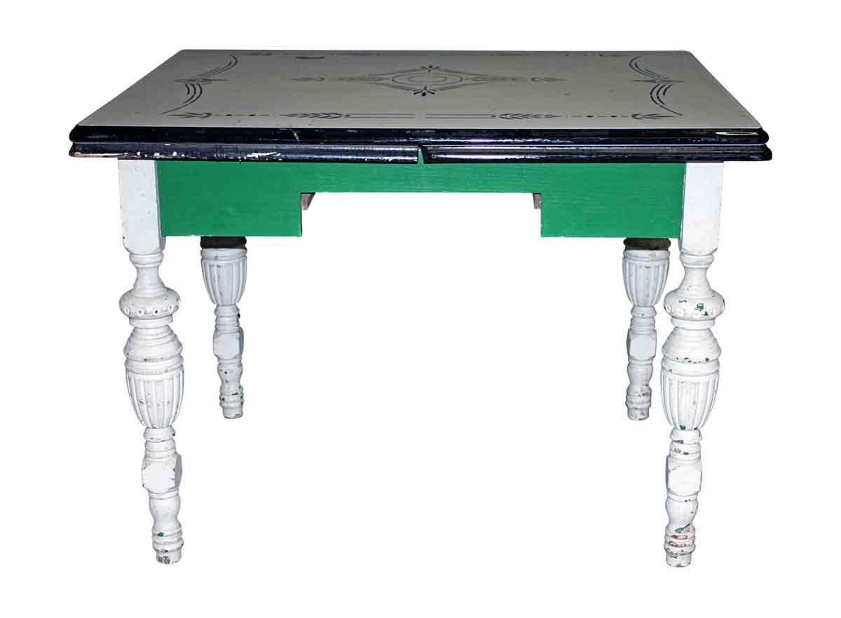 1950s Enamel Top Kitchen Table