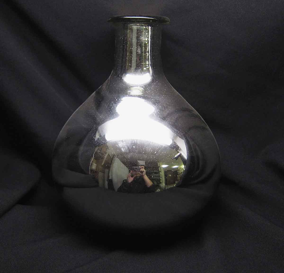 Silvered Glass Mirrored Vase