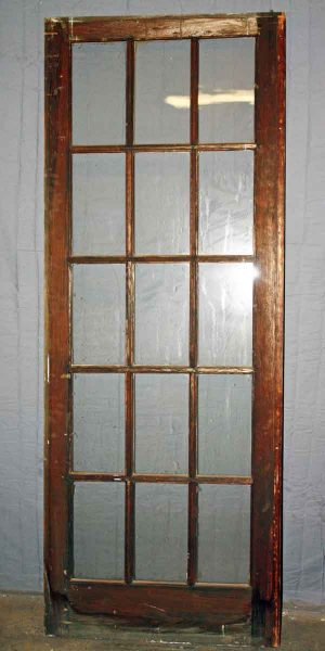 Simple French Door with 15 Glass Lites