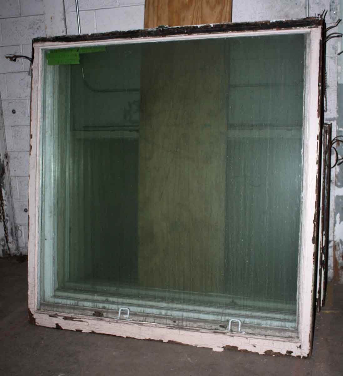 Five Foot Antique Plate Glass Windows in Solid Wood Frames