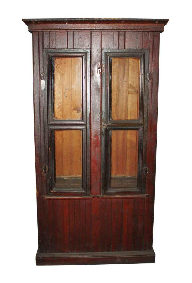 Old Jelly Cupboard Beadboard & Glass