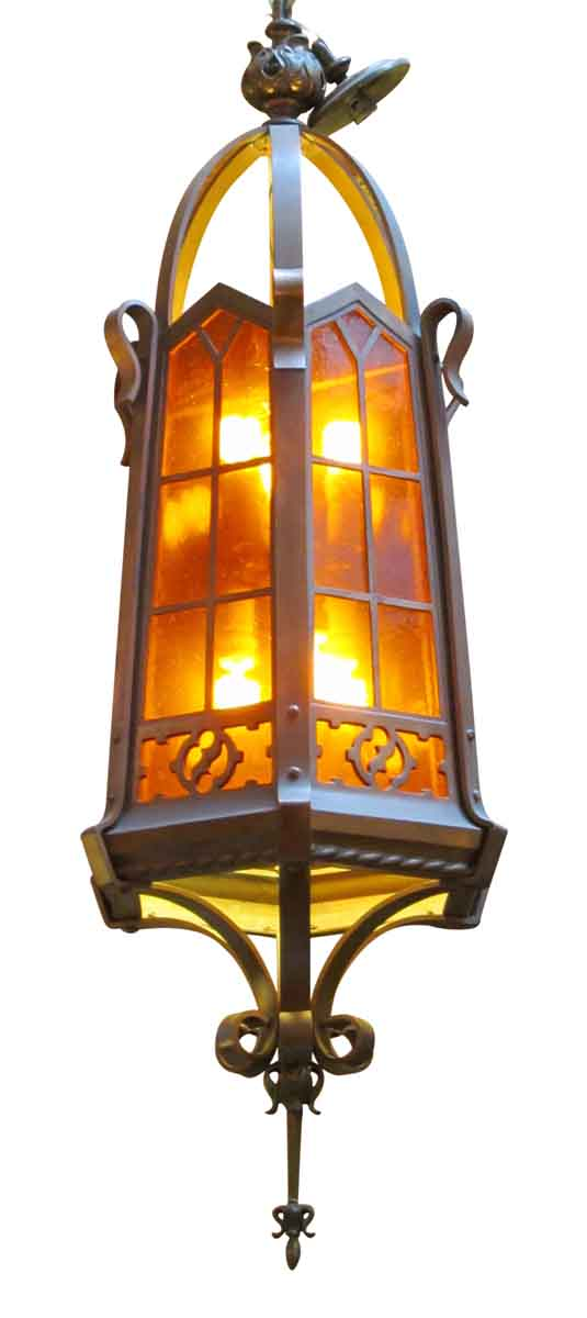Large Bronze Arts & Crafts Lantern