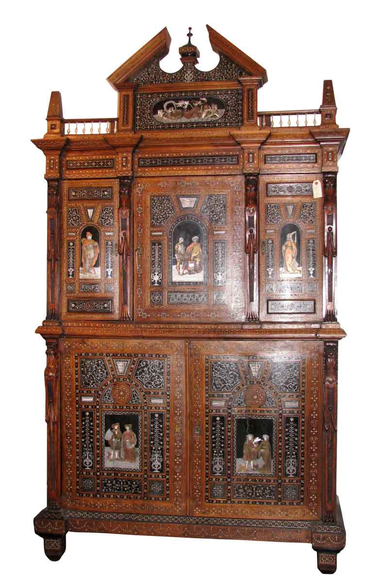 19th Century Syrian Cabinet with Stunning Inlays