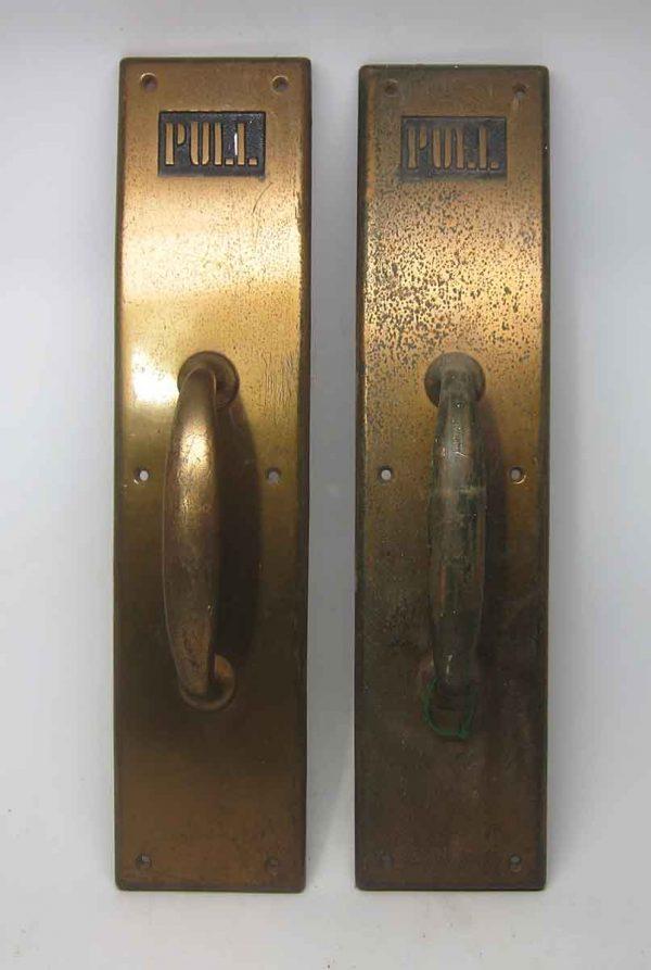 Pair of Brass Antique Door Pulls