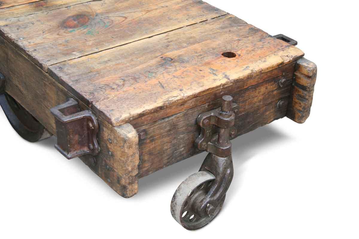 vintage factory cart coffee table | olde good things