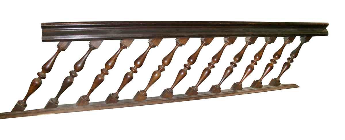 Antique Oak Stair Rail