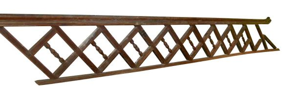Wooden Stair Railing with Square Design