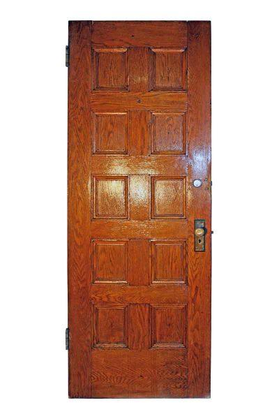 Antique Tiger Oak Arts & Crafts Raised Panel Door