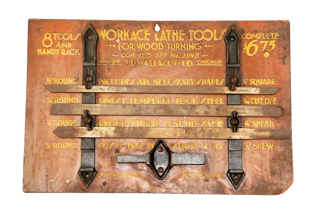 Antique Tool Advertisement Display