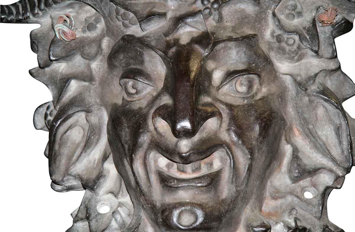 Antique Cast Iron Bacchus