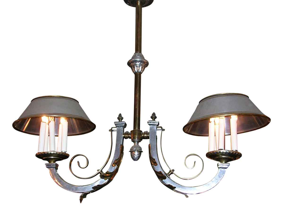 Two Arm Billiard Chandelier
