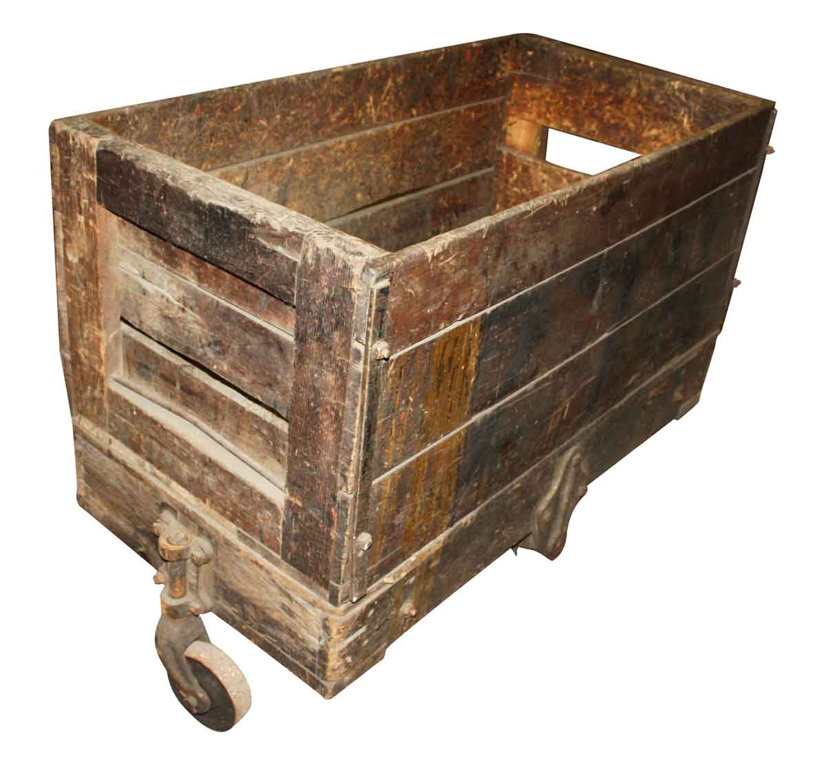 Terrific Antique Wooden Crate Cart