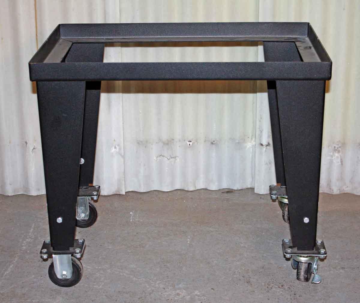 Metal Table Base on Wheels