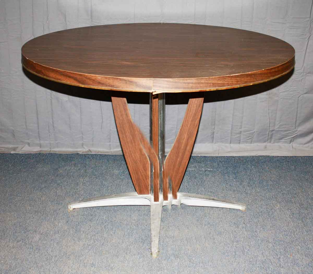 Mid Century Modern Table Cast Aluminum Base