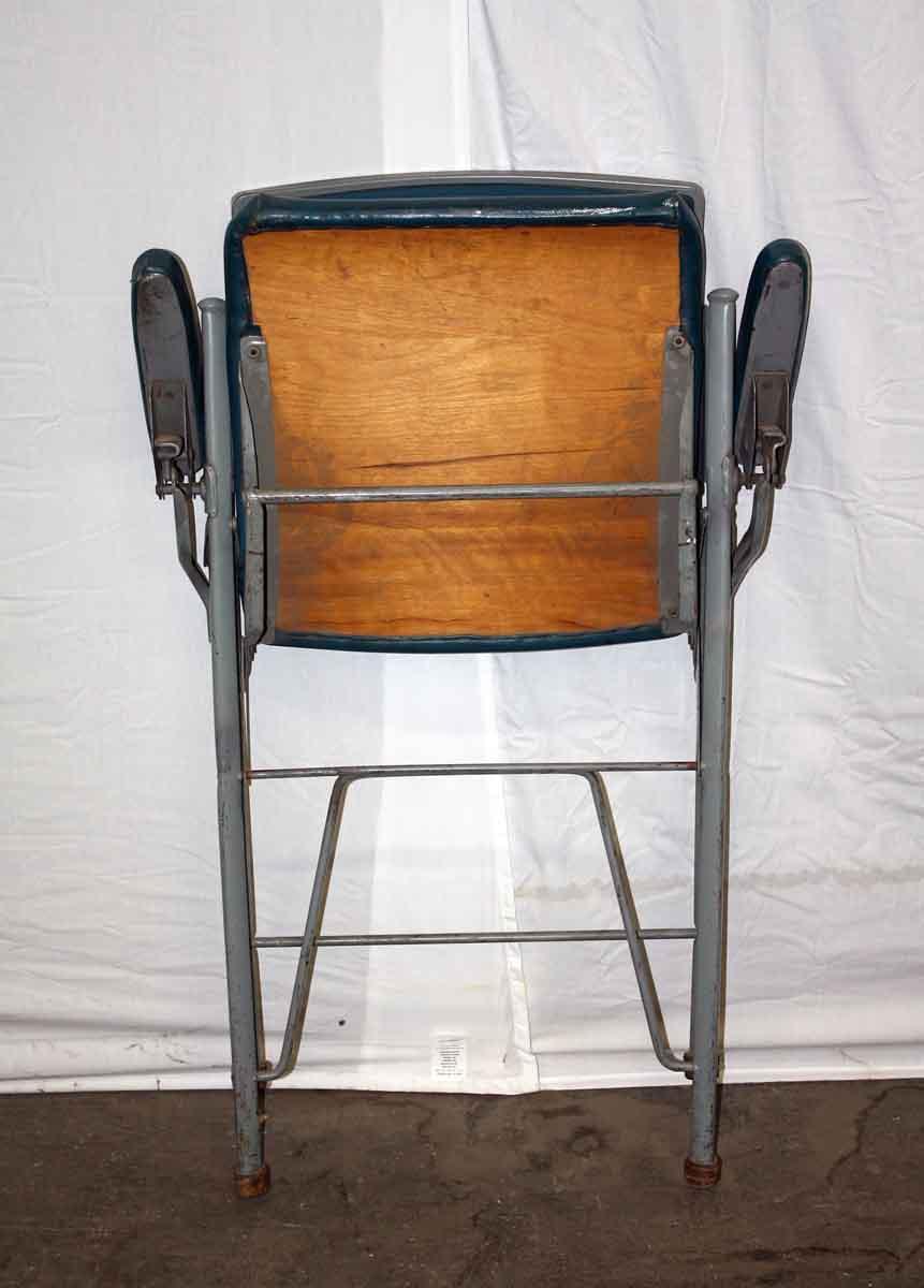 Blue Vinyl Folding Chair