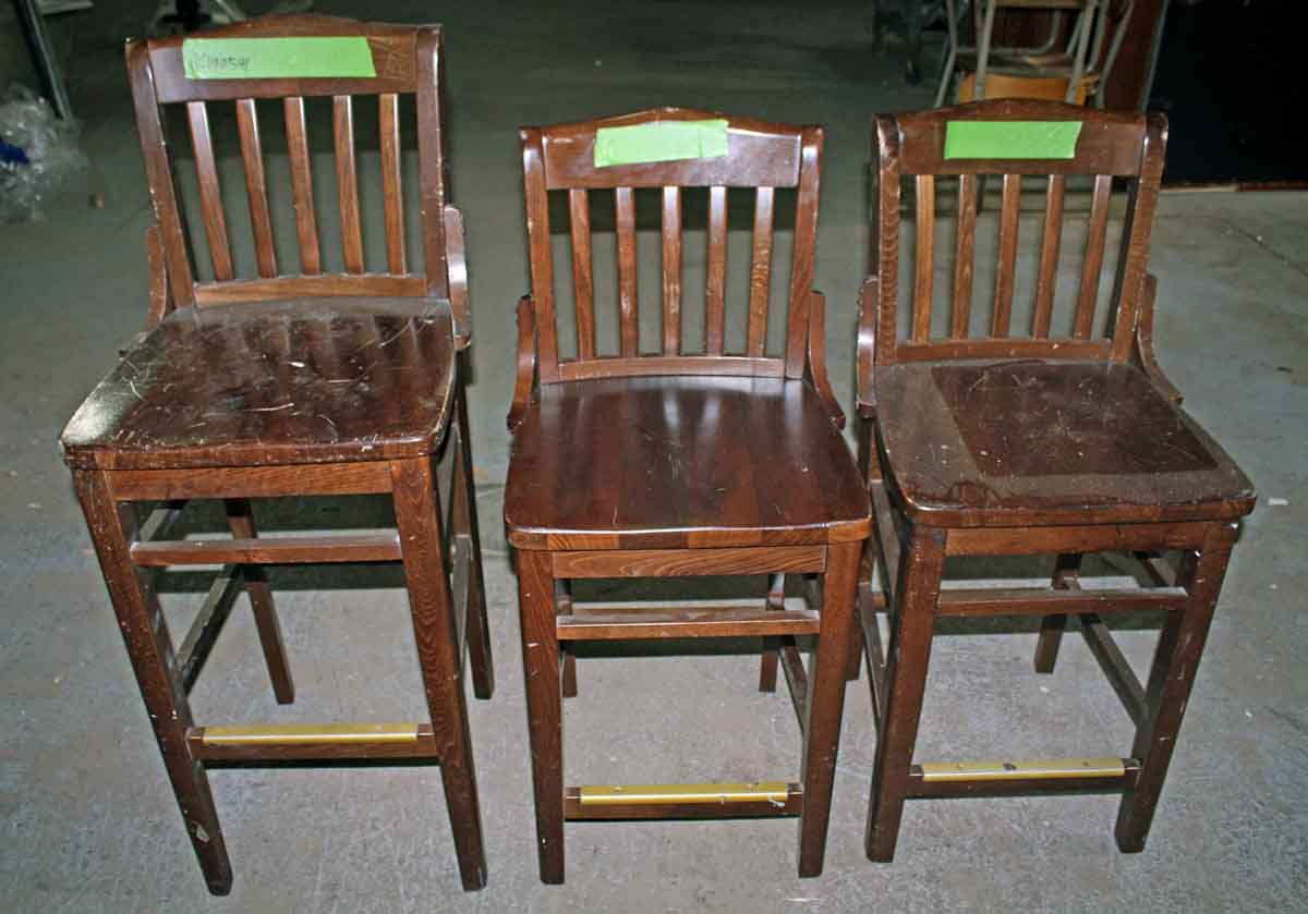 Set of Three Counter Height Chairs