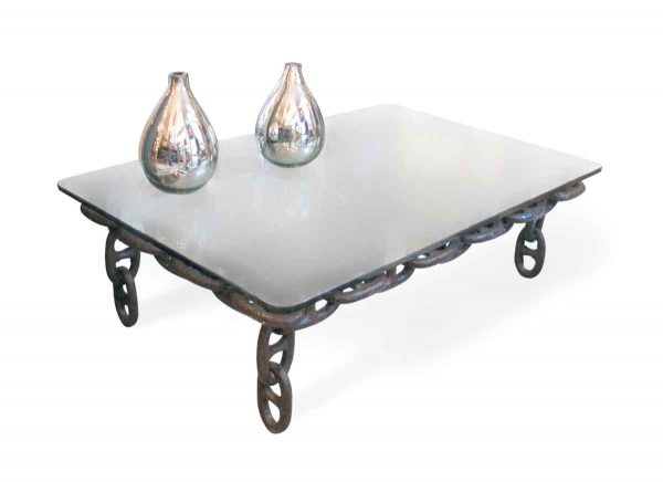 Nautical Chain Table with Glass Top