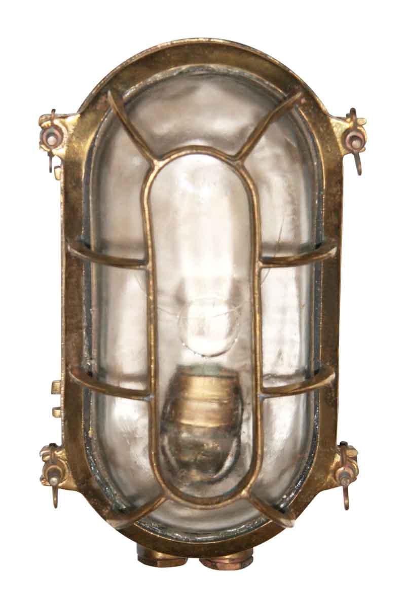 Vintage Bronze Oval Boat Light