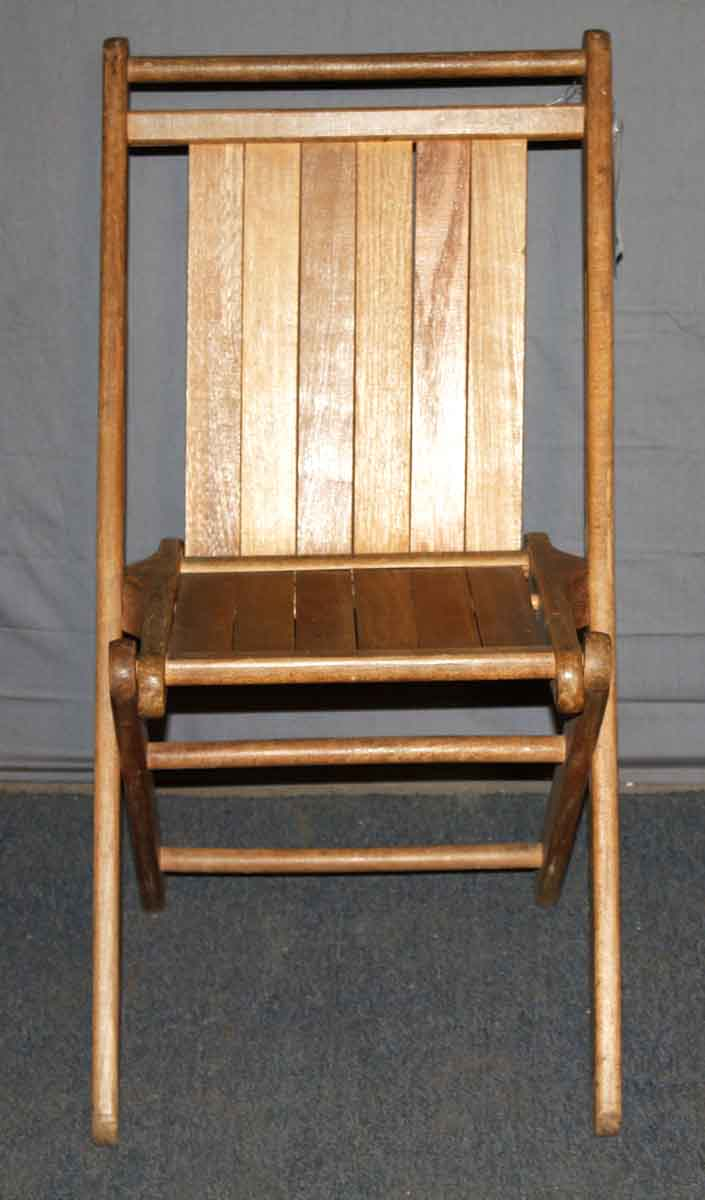 Vintage Folding Chair Made of Maple