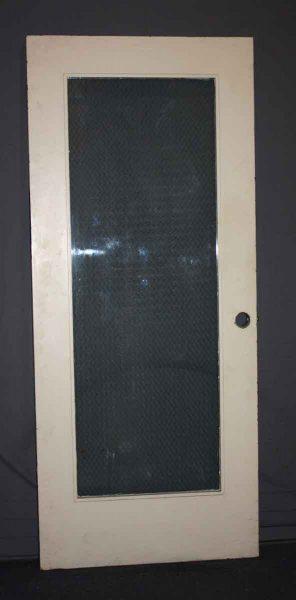 Wooden Door with Chicken Wire Glass