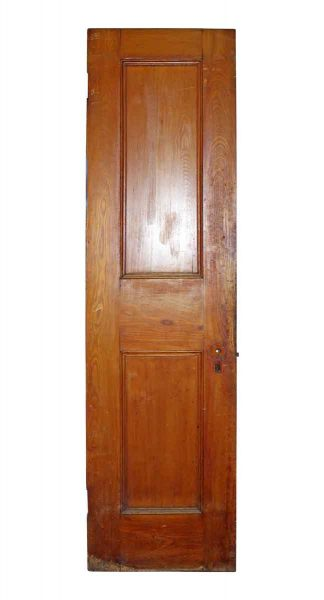 Two Panel Stained Pine Door