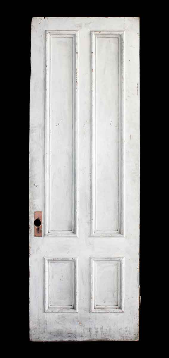 Four Vertical Panel White Door