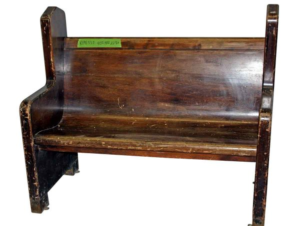 Short Wooden Pew