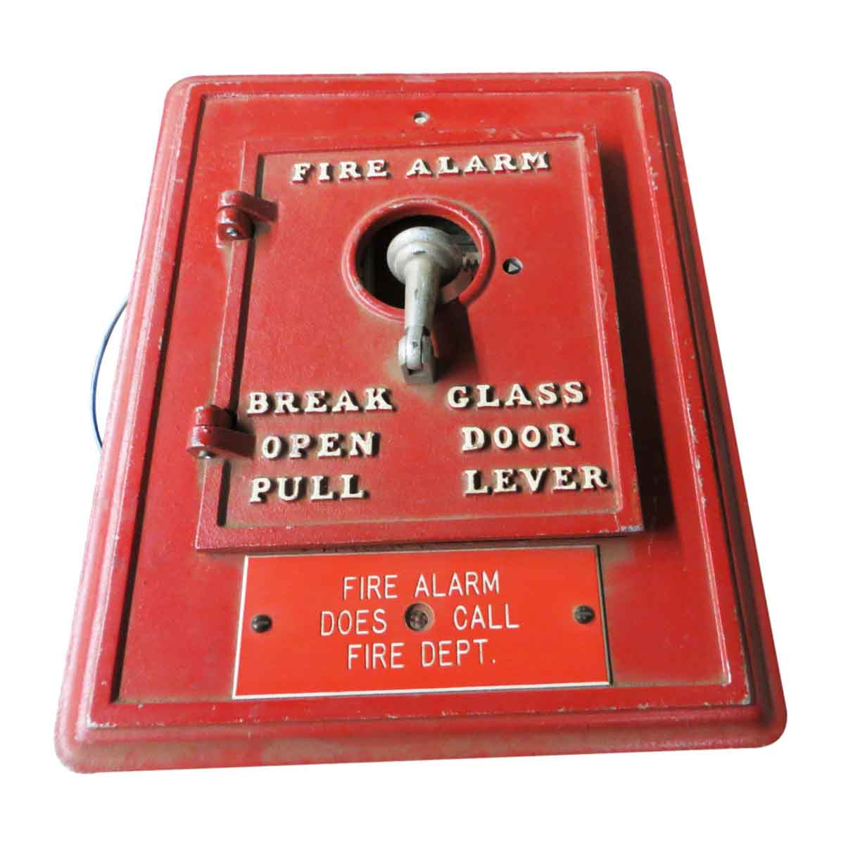 Square Fire Alarm Box