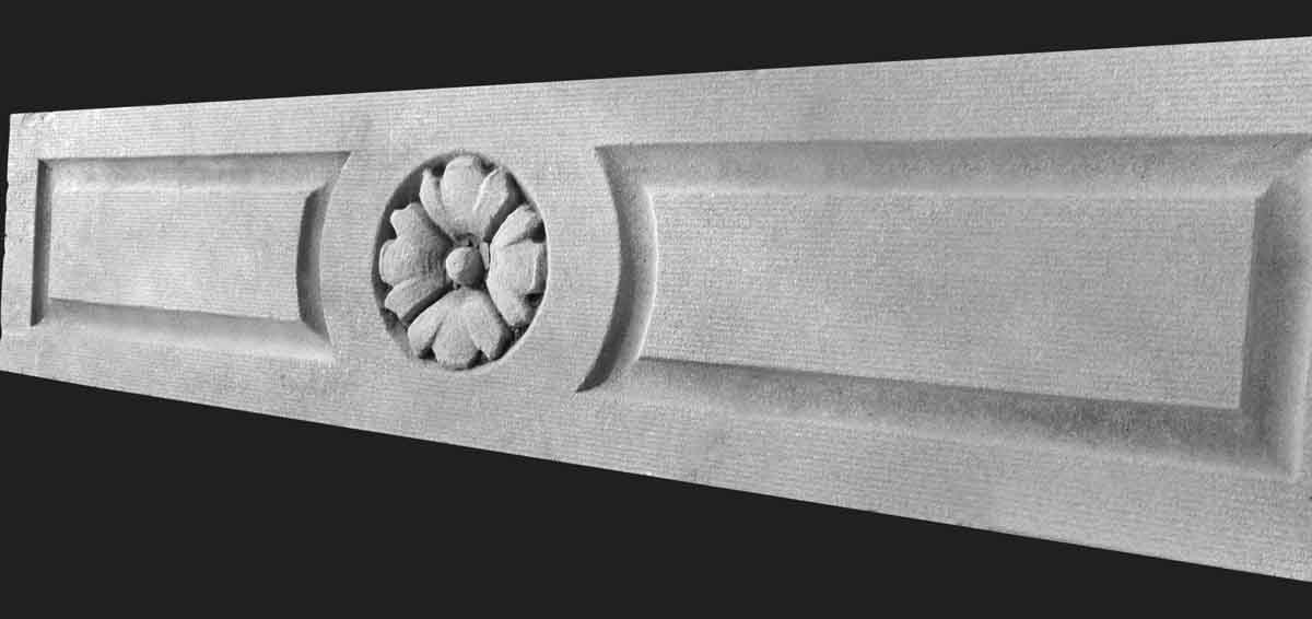 Carved Limestone Floral Pediments
