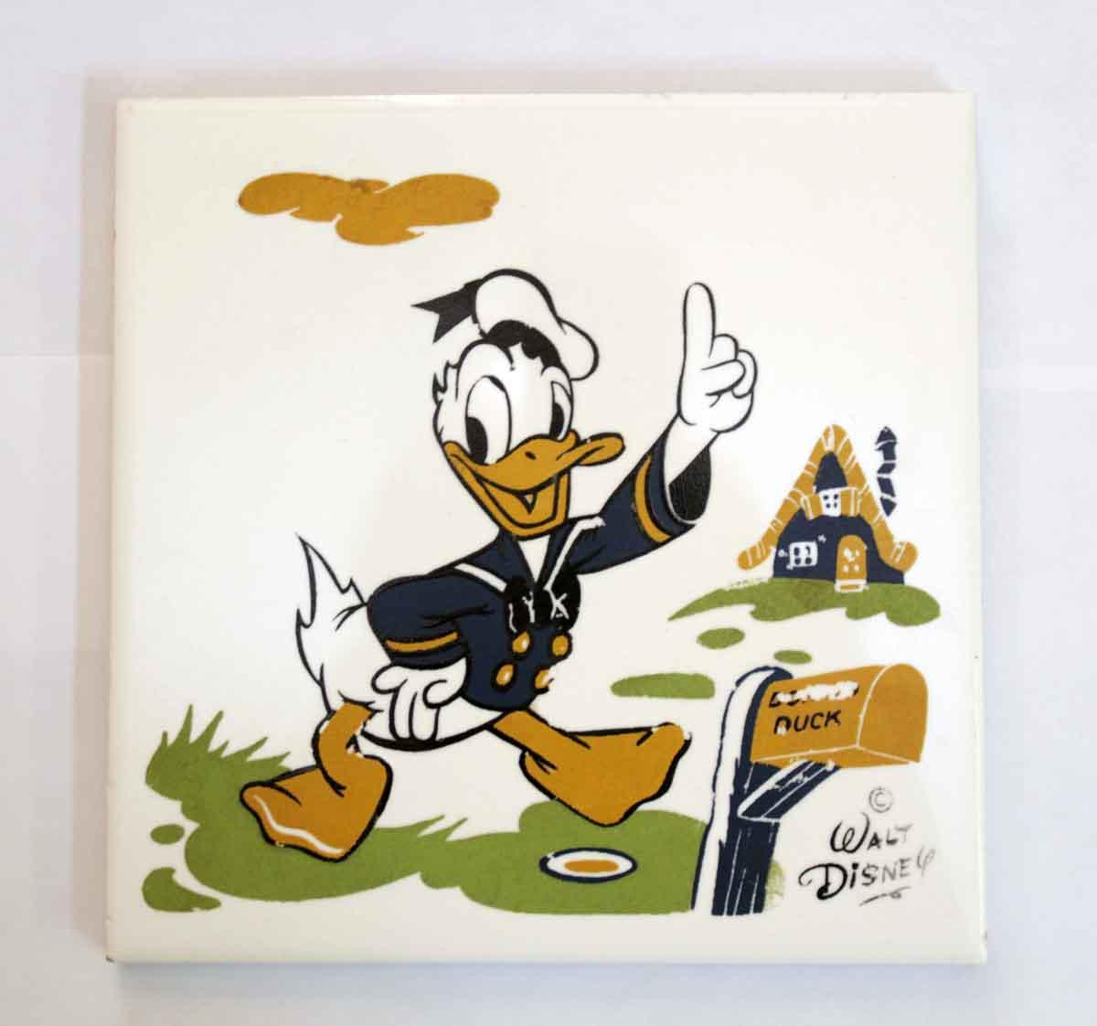 Walt Disney Donald Duck Ceramic Tile